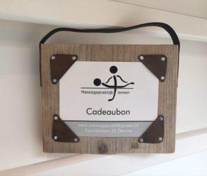 cadeaubon van Massagepraktijk Jansen in Deurne